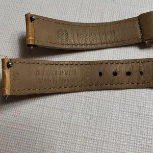 Michele Accessories - Michele watch straps genuine alligator